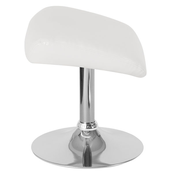 Lowest Price Egg Series White Leather Ottoman