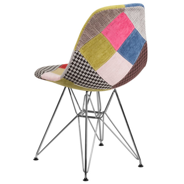 Accent Side Chair Milan Fabric/Chrome Chair