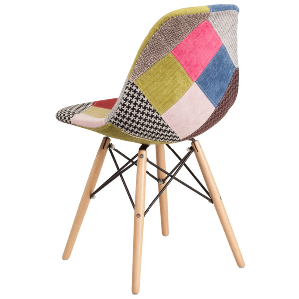 Accent Side Chair Milan Fabric/Wood Chair