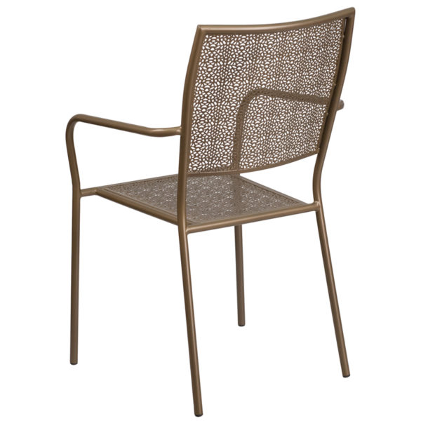 Outdoor Patio Chair Gold Square Back Patio Chair