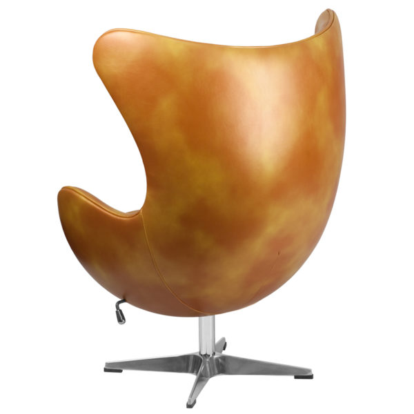 Lounge Chair Gold Leather Egg Chair