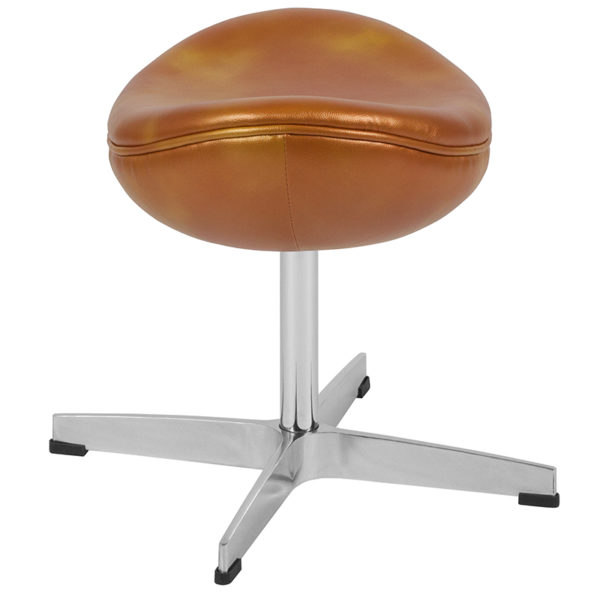 Lowest Price Gold Leather Ottoman