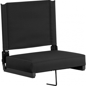 Wholesale Grandstand Comfort Seats by Flash with Ultra-Padded Seat in Black