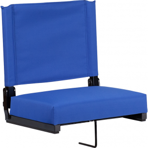Wholesale Grandstand Comfort Seats by Flash with Ultra-Padded Seat in Blue