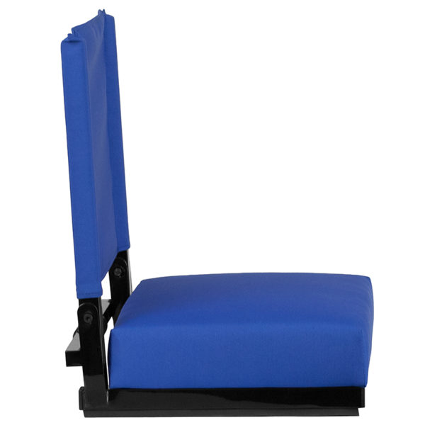 Adult Sized Chair Blue Stadium Chair