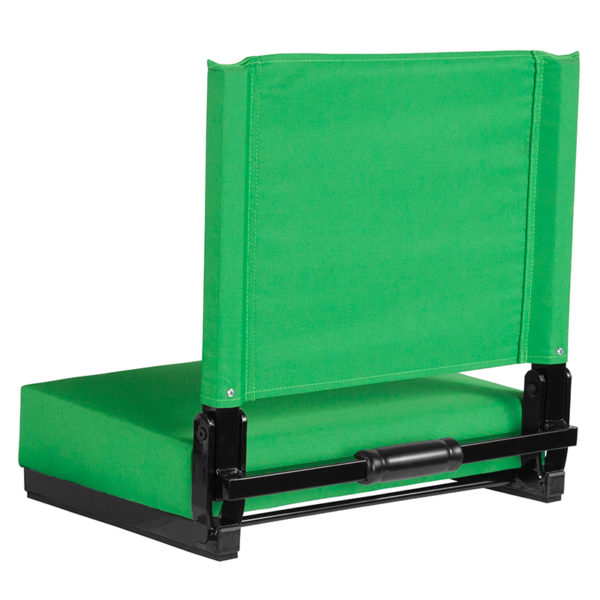 Adult Sized Chair Bright Green Stadium Chair