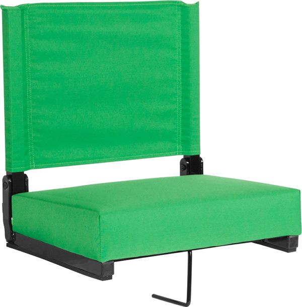 Wholesale Grandstand Comfort Seats by Flash with Ultra-Padded Seat in Bright Green