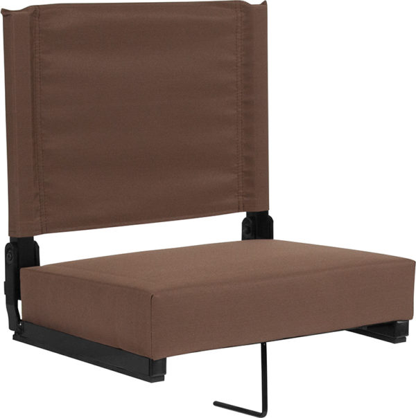 Wholesale Grandstand Comfort Seats by Flash with Ultra-Padded Seat in Brown