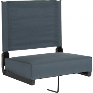 Wholesale Grandstand Comfort Seats by Flash with Ultra-Padded Seat in Dark Blue
