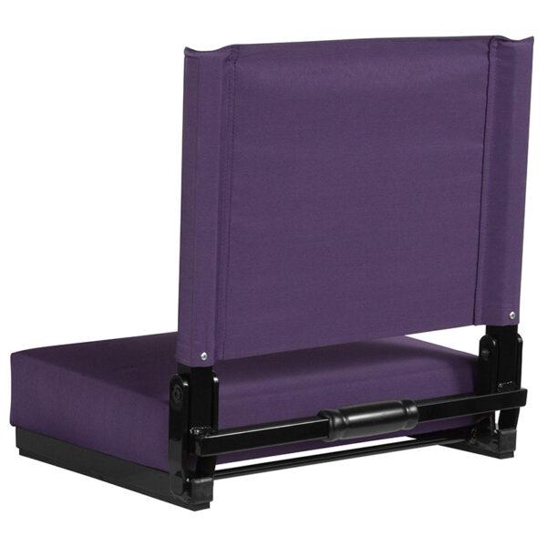 Adult Sized Chair Dark Purple Stadium Chair