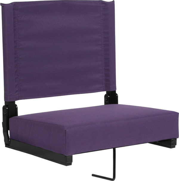 Wholesale Grandstand Comfort Seats by Flash with Ultra-Padded Seat in Dark Purple