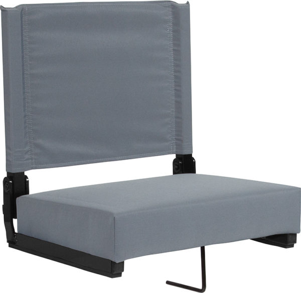 Wholesale Grandstand Comfort Seats by Flash with Ultra-Padded Seat in Gray