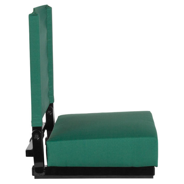 Lowest Price Grandstand Comfort Seats by Flash with Ultra-Padded Seat in Hunter Green