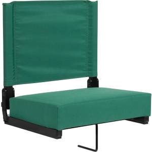 Wholesale Grandstand Comfort Seats by Flash with Ultra-Padded Seat in Hunter Green