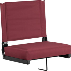 Wholesale Grandstand Comfort Seats by Flash with Ultra-Padded Seat in Maroon