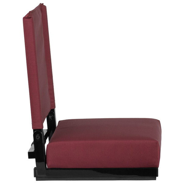 Adult Sized Chair Maroon Stadium Chair
