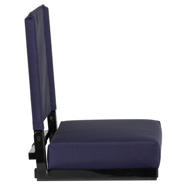 Adult Sized Chair Navy Stadium Chair