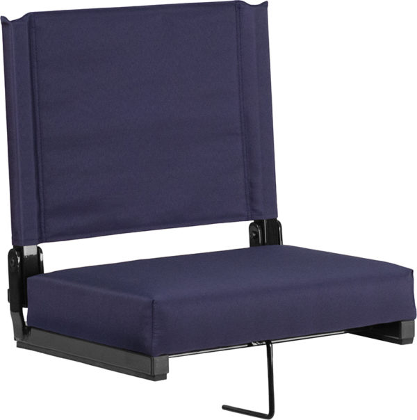 Wholesale Grandstand Comfort Seats by Flash with Ultra-Padded Seat in Navy
