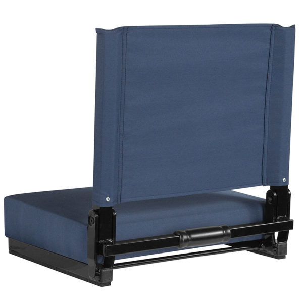 Adult Sized Chair Navy Blue Stadium Chair