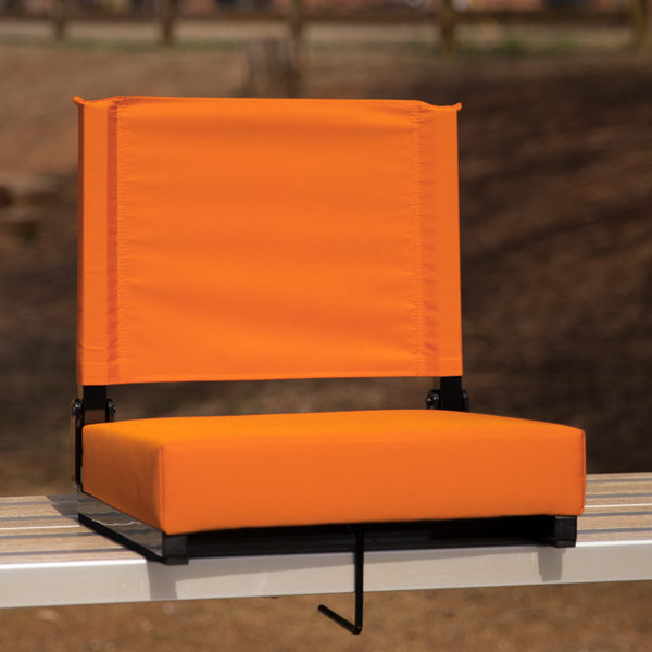 Lowest Price Grandstand Comfort Seats by Flash with Ultra-Padded Seat in Orange