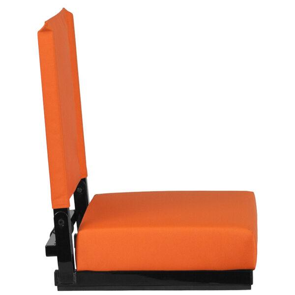 Adult Sized Chair Orange Stadium Chair