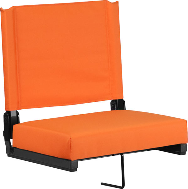Wholesale Grandstand Comfort Seats by Flash with Ultra-Padded Seat in Orange