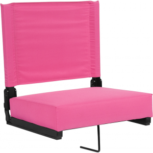 Wholesale Grandstand Comfort Seats by Flash with Ultra-Padded Seat in Pink