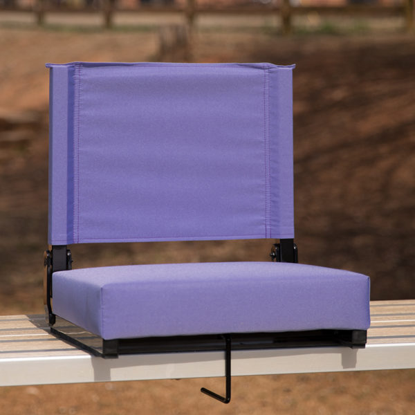 Lowest Price Grandstand Comfort Seats by Flash with Ultra-Padded Seat in Purple