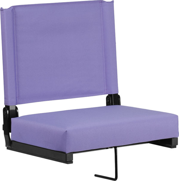 Wholesale Grandstand Comfort Seats by Flash with Ultra-Padded Seat in Purple