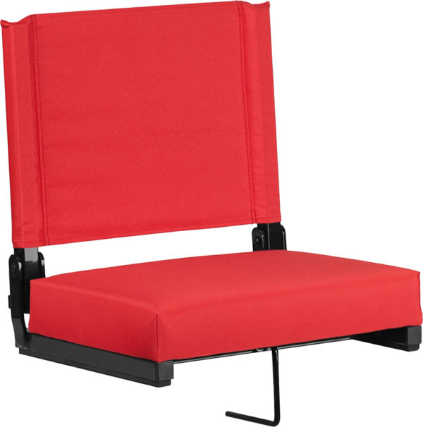 Wholesale Grandstand Comfort Seats by Flash with Ultra-Padded Seat in Red