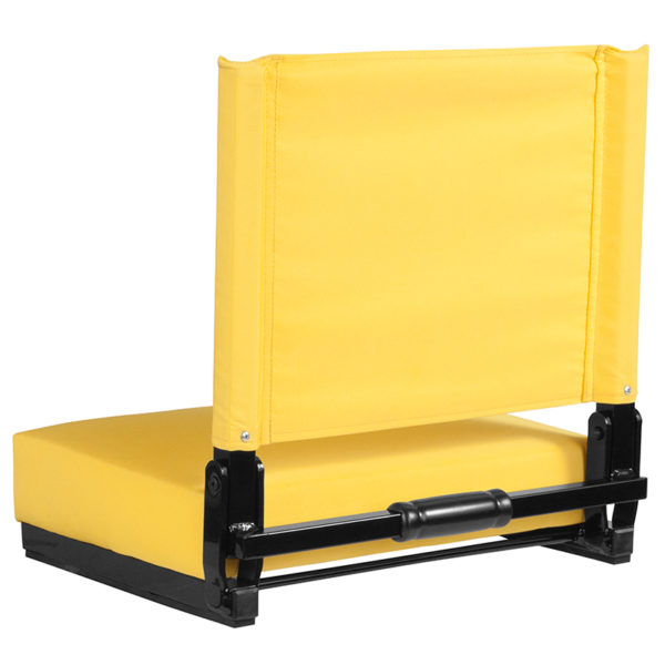 Adult Sized Chair Yellow Stadium Chair