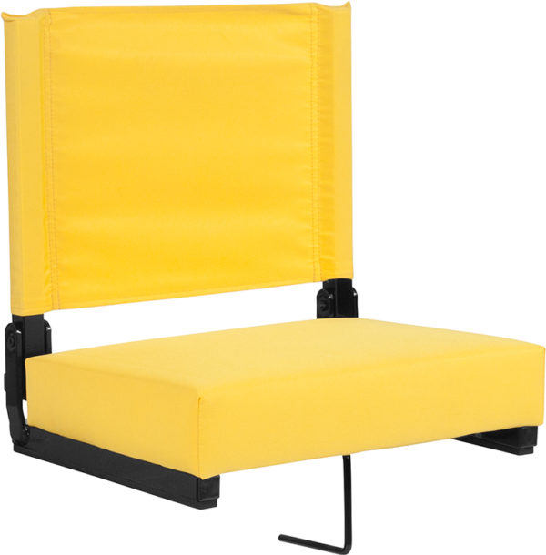 Wholesale Grandstand Comfort Seats by Flash with Ultra-Padded Seat in Yellow