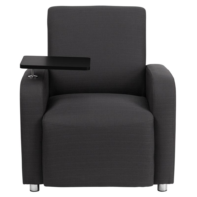 Super Gray Fabric Guest Chair With Tablet Arm And Chrome Legs Inzonedesignstudio Interior Chair Design Inzonedesignstudiocom
