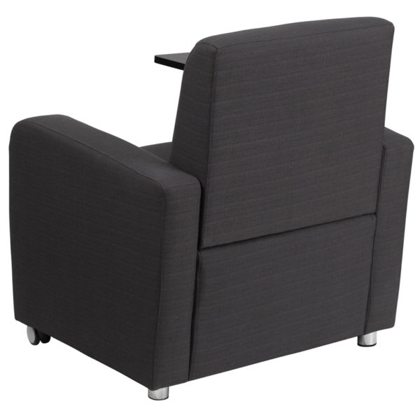 Contemporary Style Gray Fabric Tablet Guest Chair