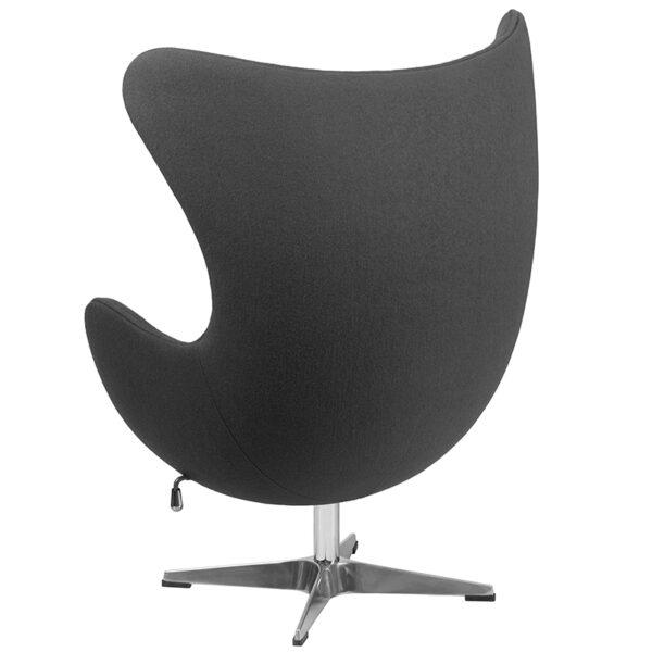Lounge Chair Gray Wool Fabric Egg Chair