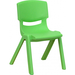 Wholesale Green Plastic Stackable School Chair with 12'' Seat Height