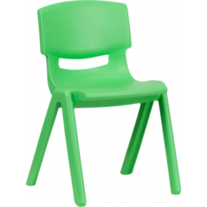 Wholesale Green Plastic Stackable School Chair with 13.25'' Seat Height