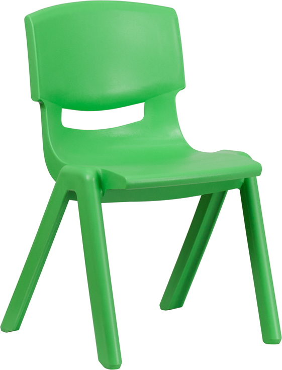 Wholesale Green Plastic Stackable School Chair with 15.5'' Seat Height
