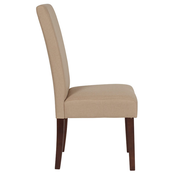 Lowest Price Greenwich Series Beige Fabric Parsons Chair