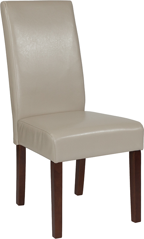 Wholesale Greenwich Series Beige Leather Parsons Chair