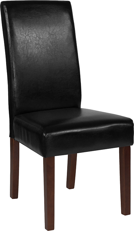 Wholesale Greenwich Series Black Leather Parsons Chair
