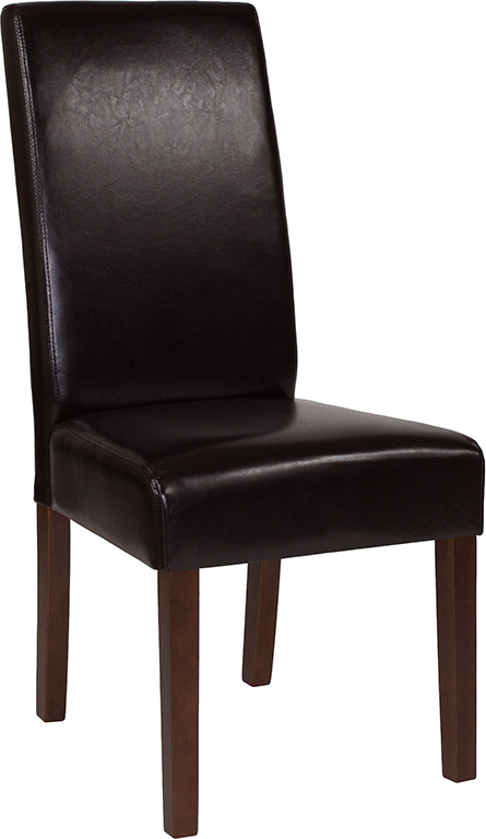 Wholesale Greenwich Series Brown Leather Parsons Chair