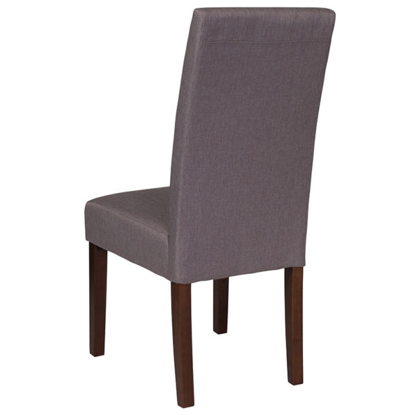 Mid-Century Style Lt Gray Fabric Parsons Chair