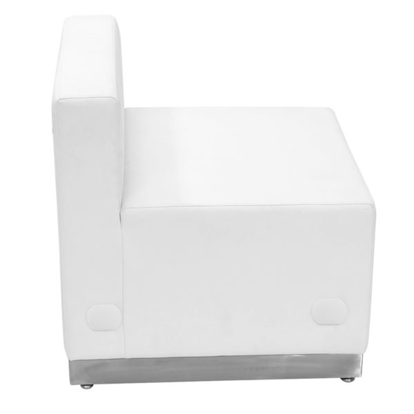 Modular Chair White Leather Chair