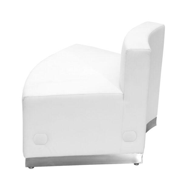 Modular Chair White Convex Leather Chair