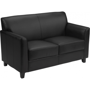 Wholesale HERCULES Diplomat Series Black Leather Loveseat