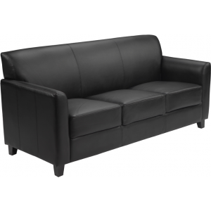 Wholesale HERCULES Diplomat Series Black Leather Sofa