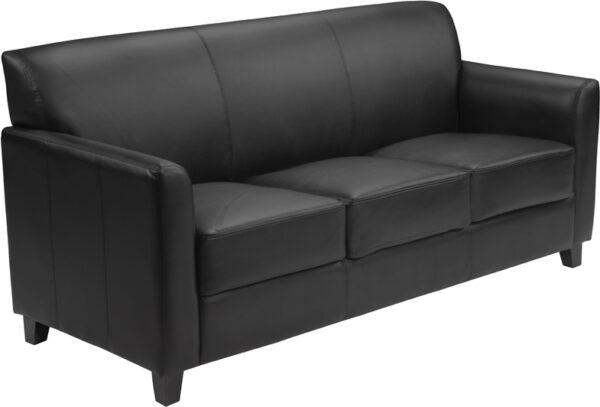 Wholesale HERCULES Diplomat Series Black Leather Sofa