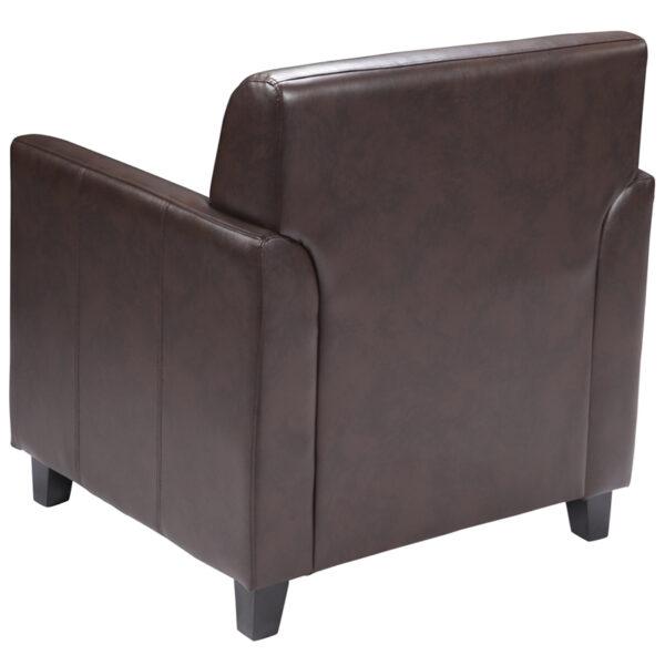 Lowest Price HERCULES Diplomat Series Brown Leather Chair