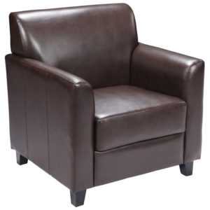 Wholesale HERCULES Diplomat Series Brown Leather Chair